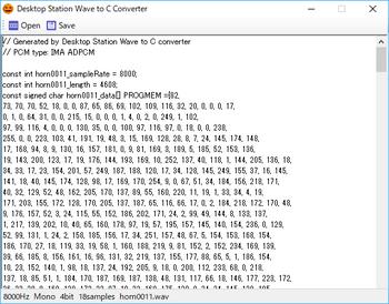 Wav2Cでヘッダファイルにコンバート.png
